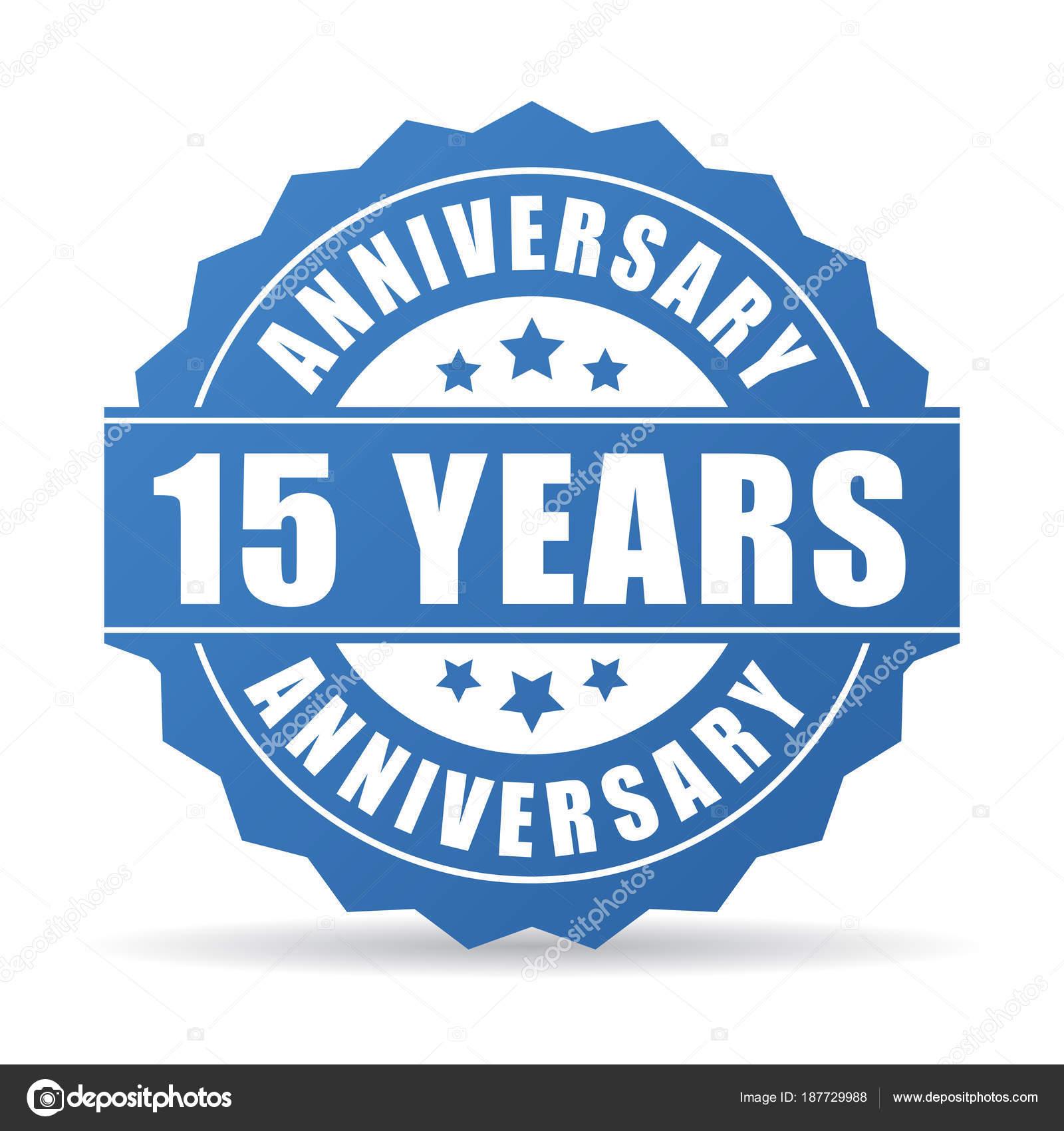 15 Years Anniversary Celebration Vector Icon Stock Vector Arcady