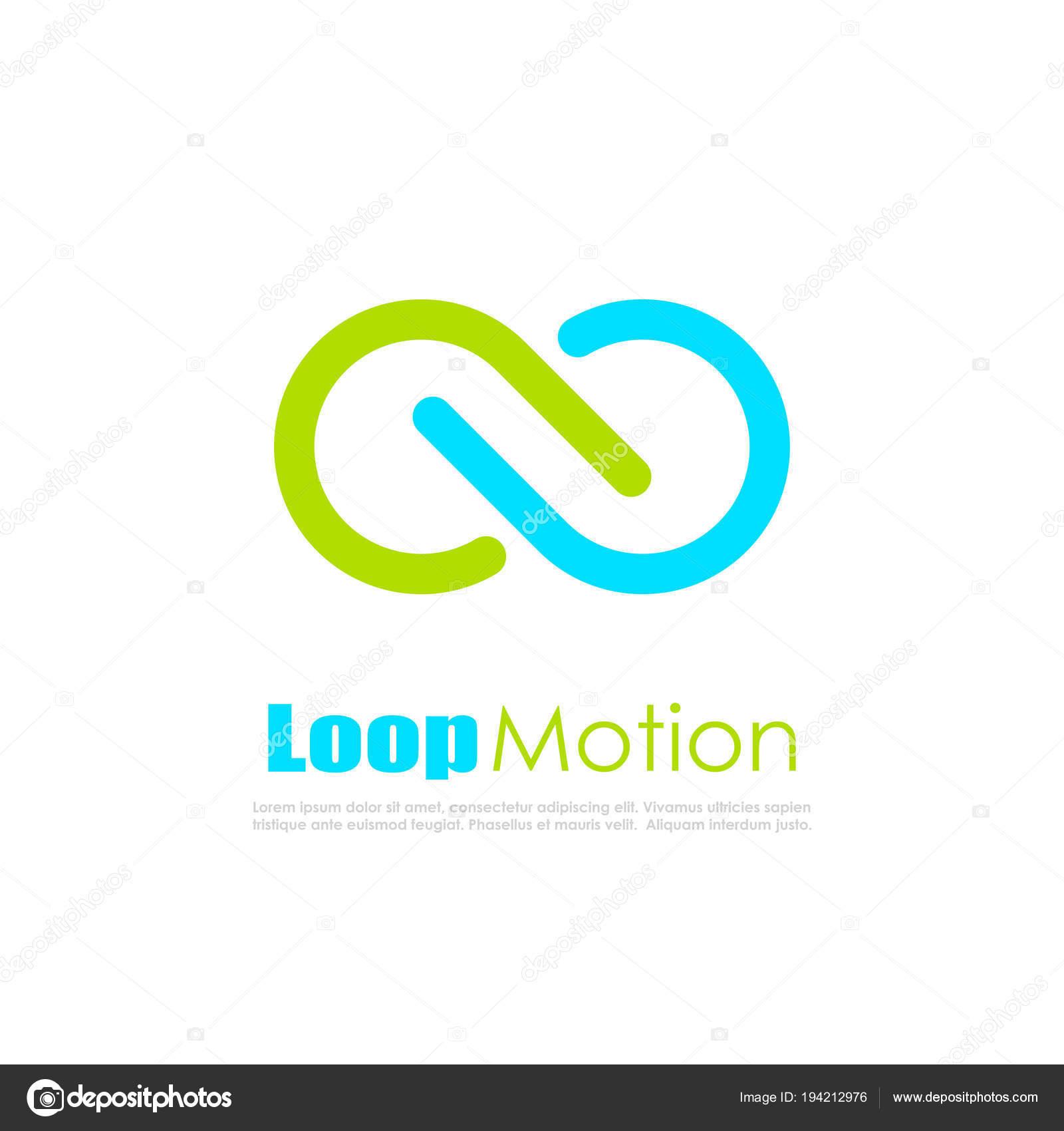 Infinite Loop Motion Abstract Vector Logos Illustration