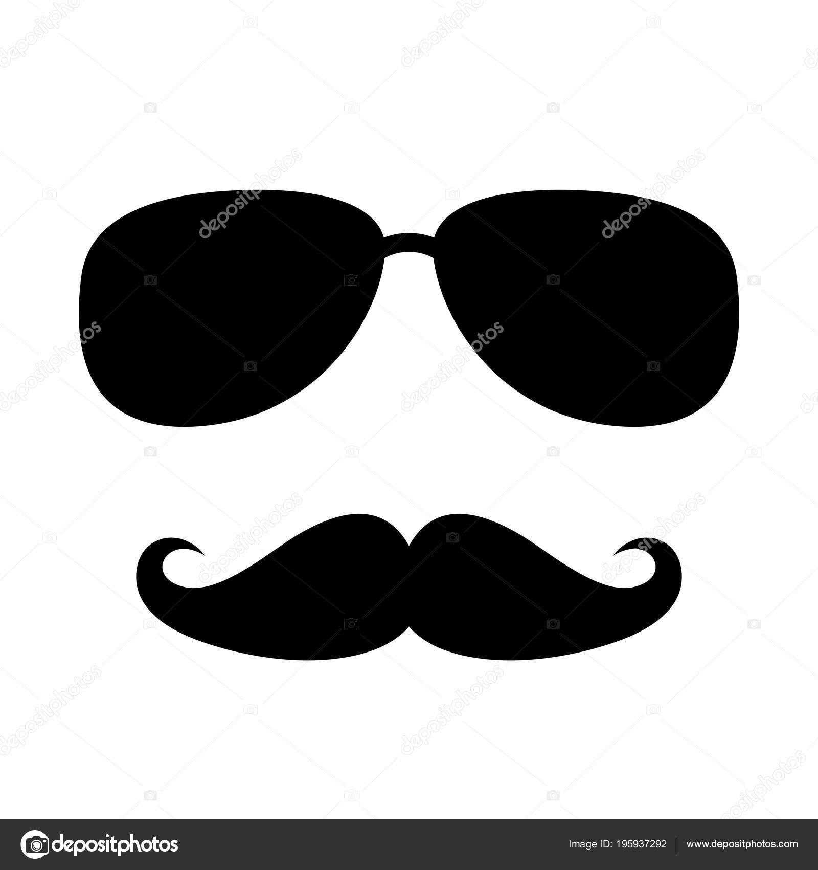 Cool Mann Gesicht Zeichen Vektorgrafik Isoliert Auf Weißem