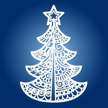 christmas tree for laser cutting