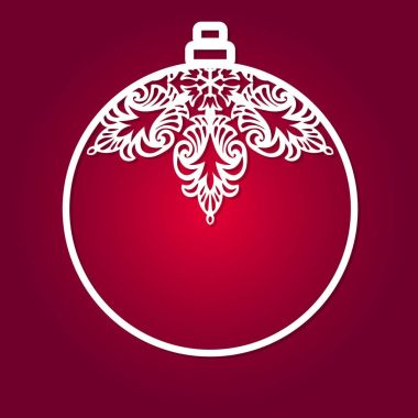 Christmas ball for laser cutting