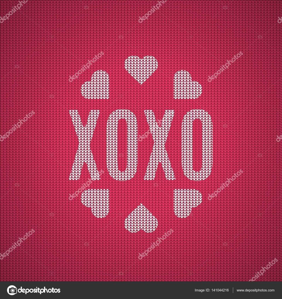 Mezzi Di Abbreviazione Xoxo Baci E Abbracci Il Modello Jumper Rosso