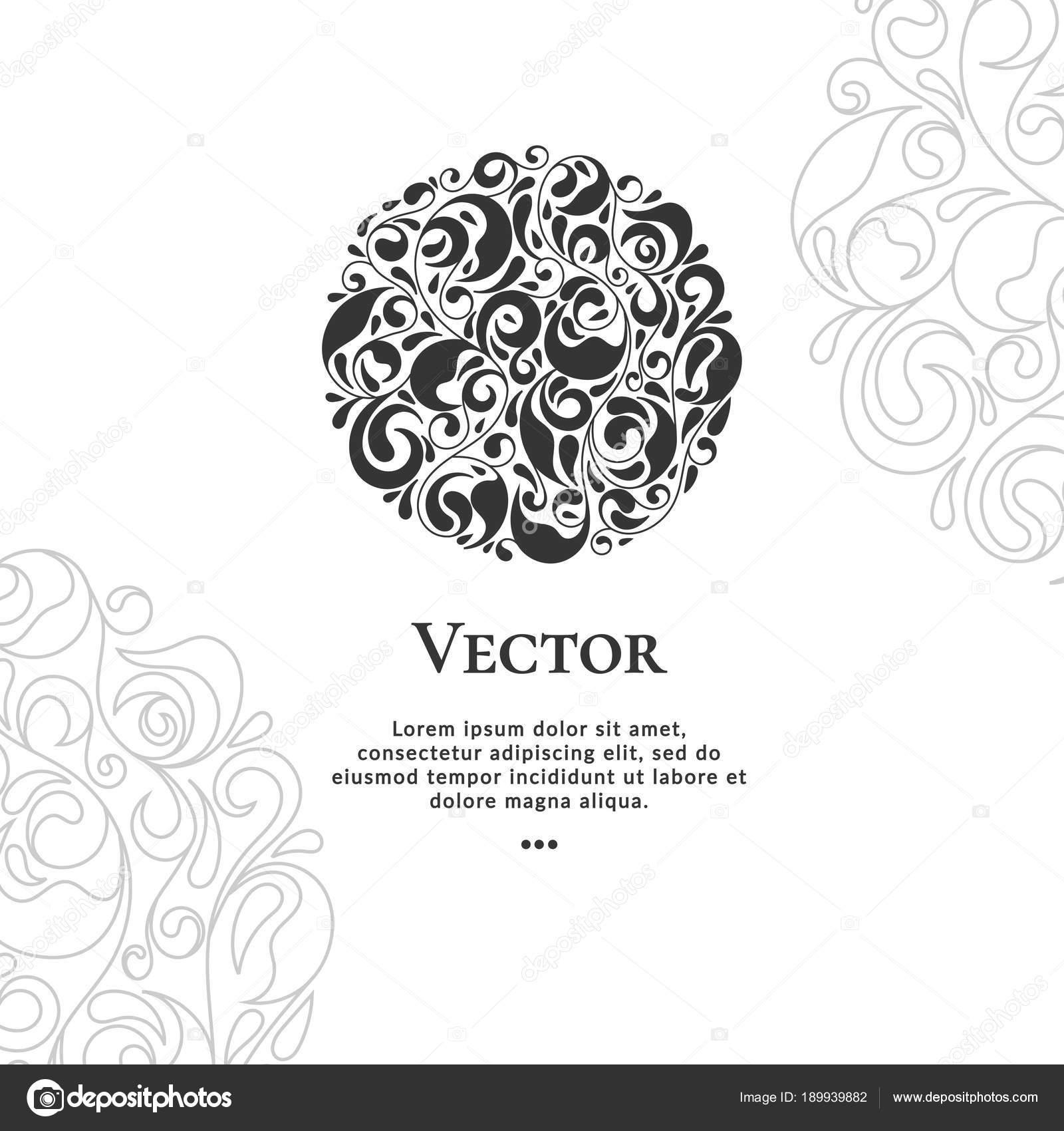 Vektor-Emblem. Einsetzbar für Schmuck, Schönheit und Mode-Industrie ...