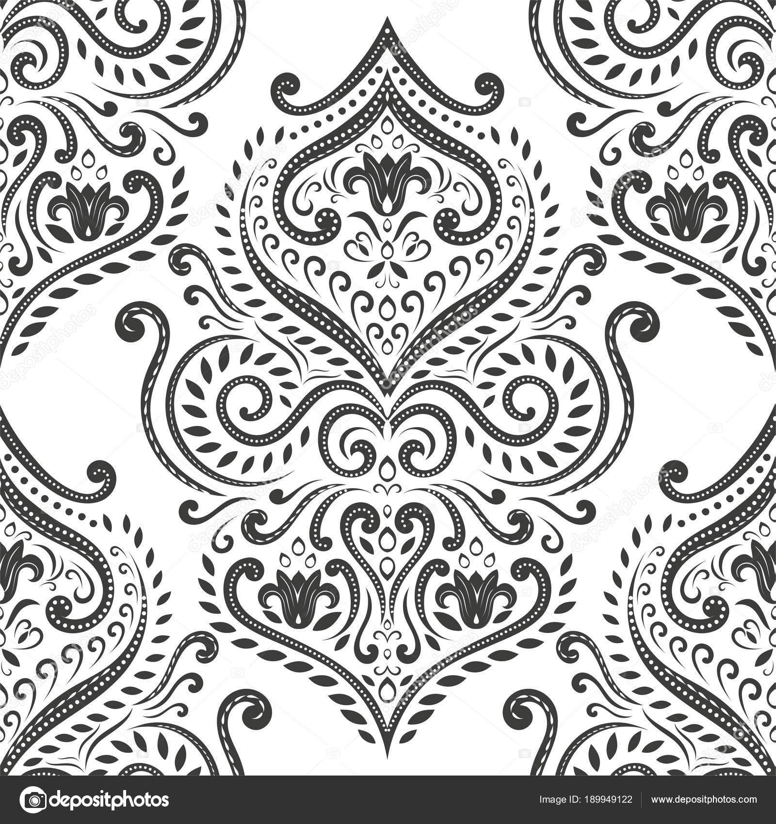 depositphotos 189949122 stock illustration black and white damask vector
