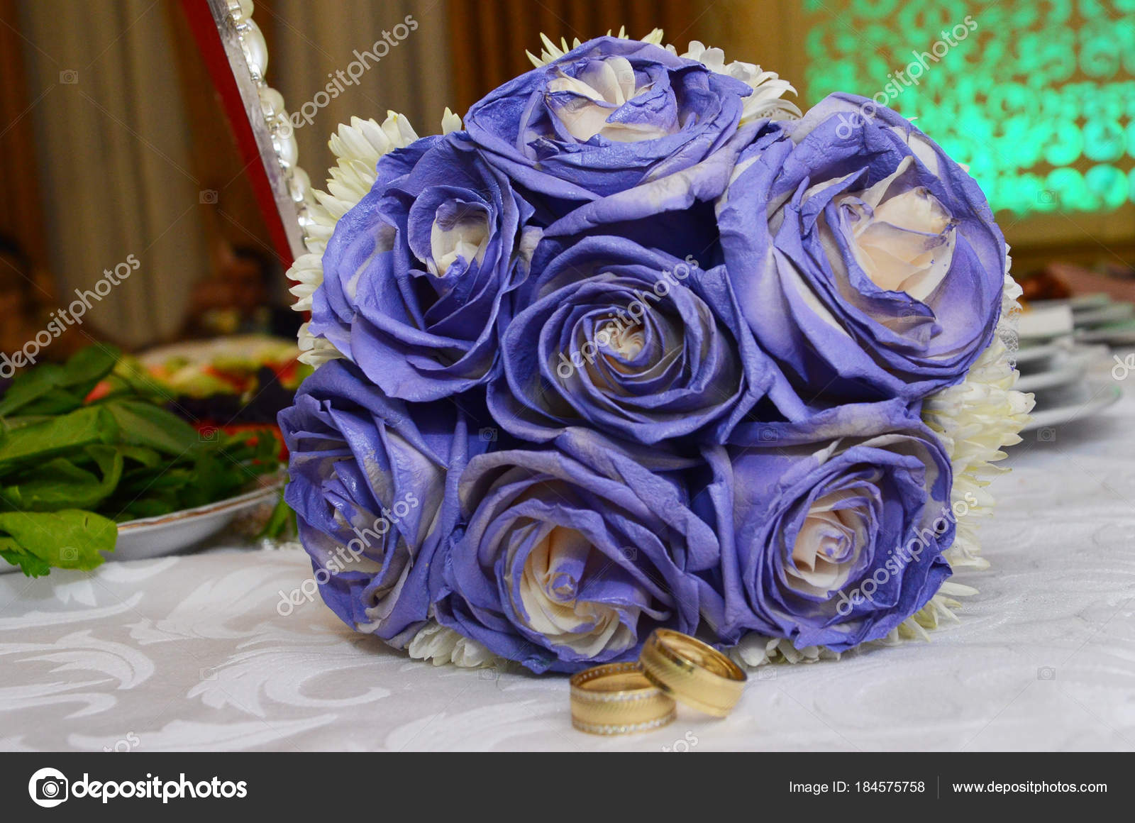 Blue wedding bouquet and rings beautiful blue and white fresh beautiful blue and white fresh flowers wedding bouquet photo by fotoqrafil izmirmasajfo