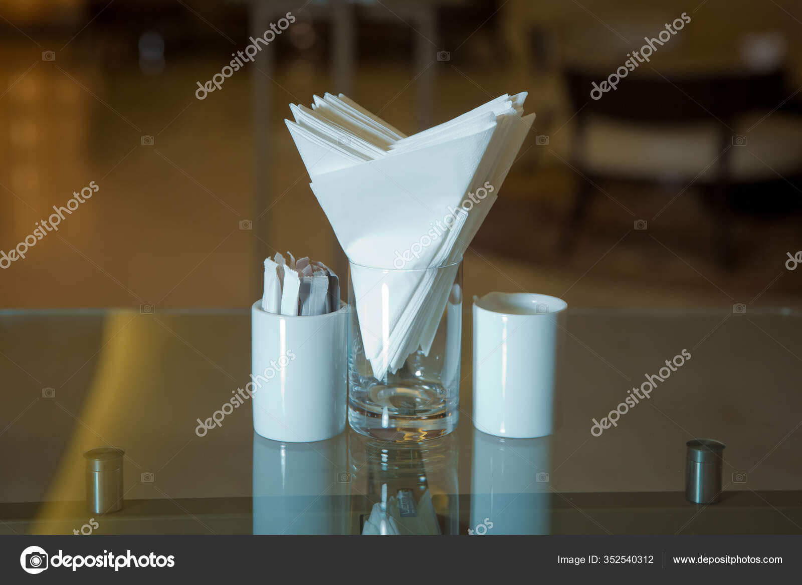Table Cafe Restaurant White Napkins Metal Napkin Holder Spices Salt Stock Photo C Fotoqraf Tk Mail Ru 352540312