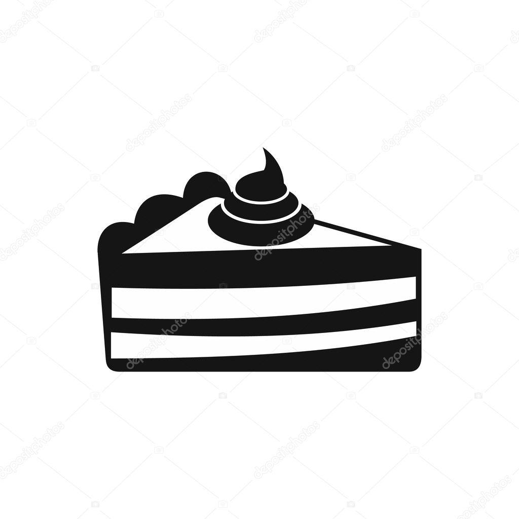 Stuck Kuchen Symbol Einfachen Stil Stockvektor C Ylivdesign