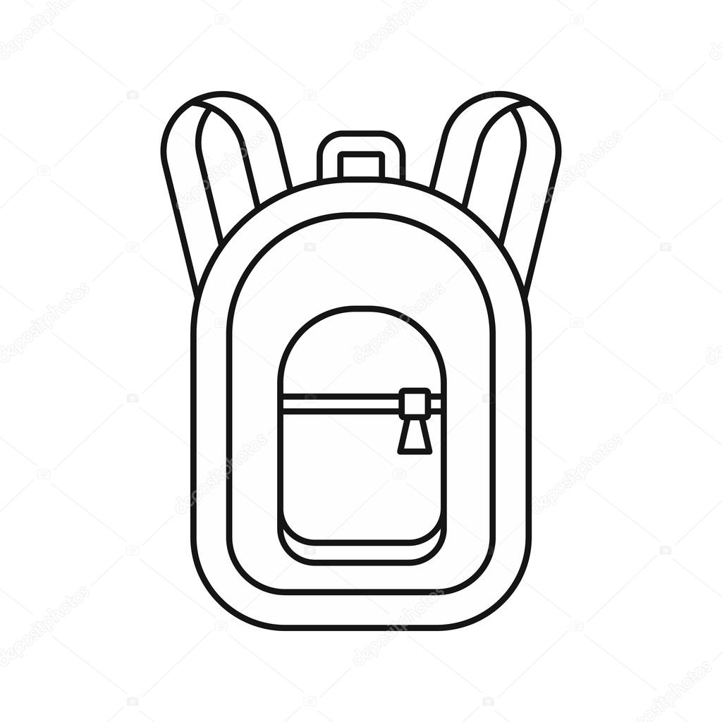 backpack icon in outline style u2014 stock vector ylivdesign 125291154