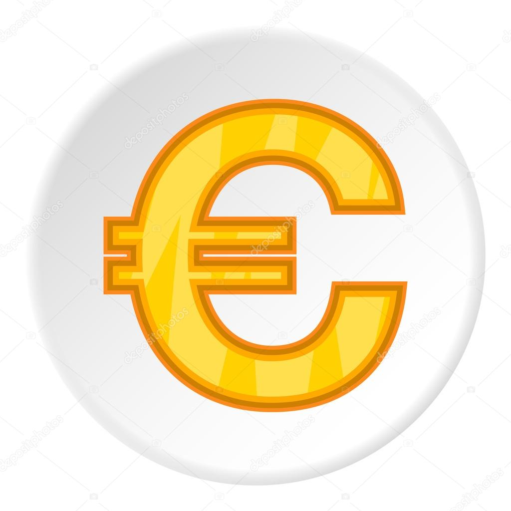 Sign Of Money Euro Icon Cartoon Style Stock Vector C Ylivdesign