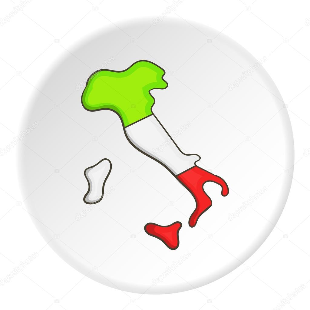 Italia mapa dibujo | Mapa de icono de Italia, estilo de dibujos