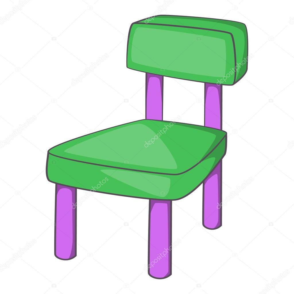 Icono de estilo de dibujos animados silla para ni os for Sillas para comer ninos 3 anos