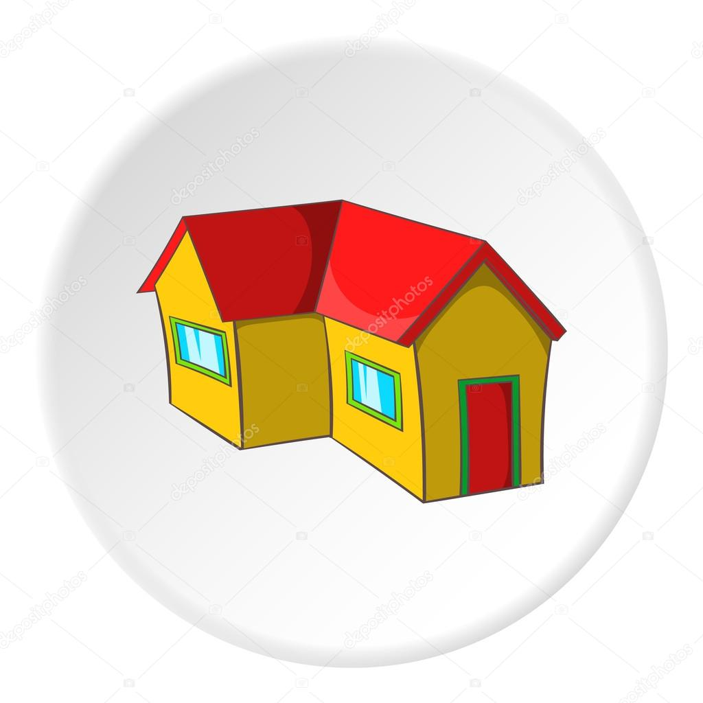 House With A Roof Icon Cartoon Style Stockvektor Ylivdesign