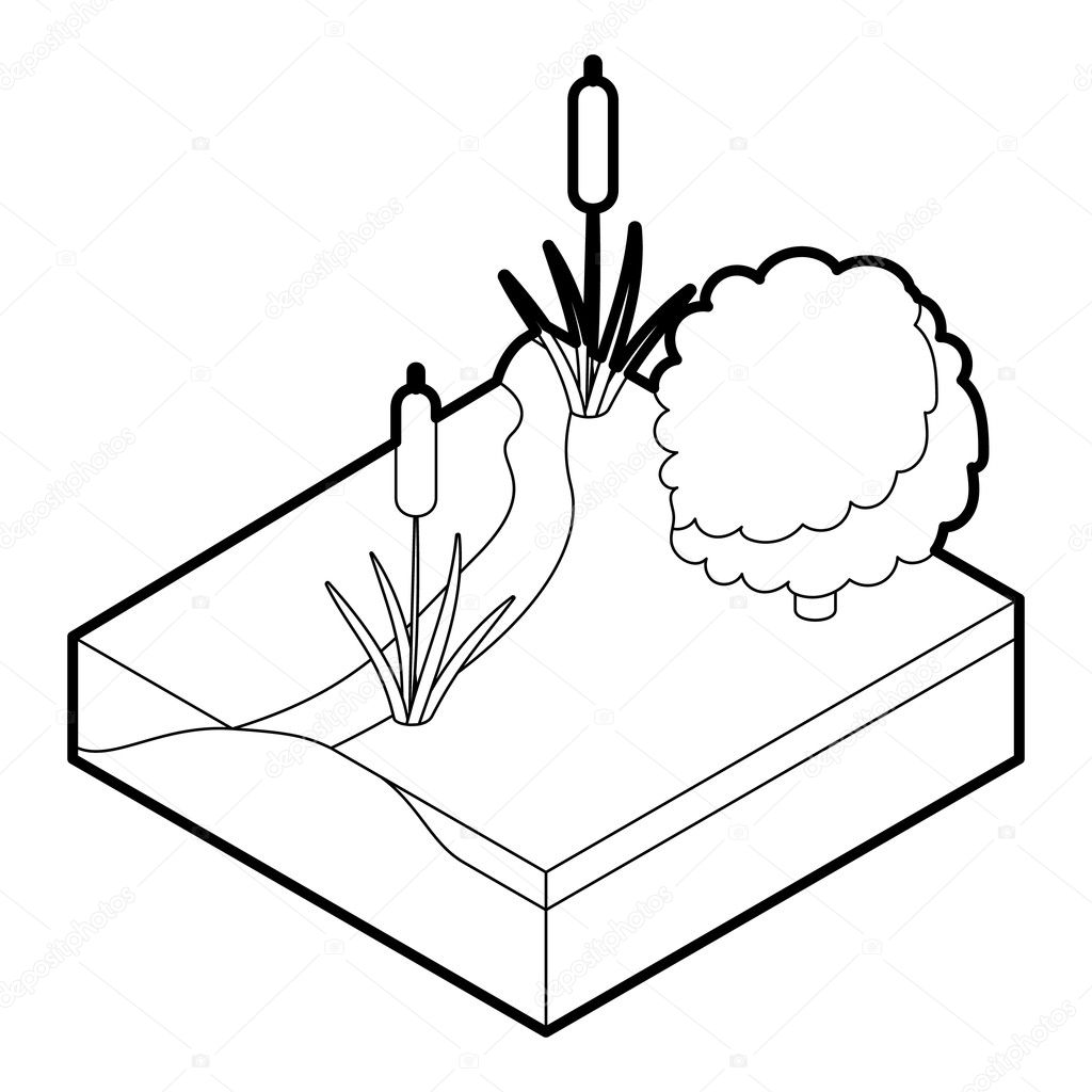 river icon outline illustration of river vector icon for web premium vector in adobe illustrator ai ai format encapsulated postscript eps eps format river icon outline illustration of
