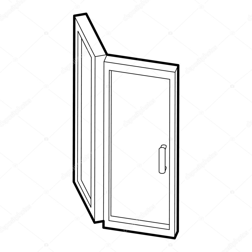 door icon outline style stock vector ylivdesign 126437754 Door and Window Alarms door icon outline style stock illustration