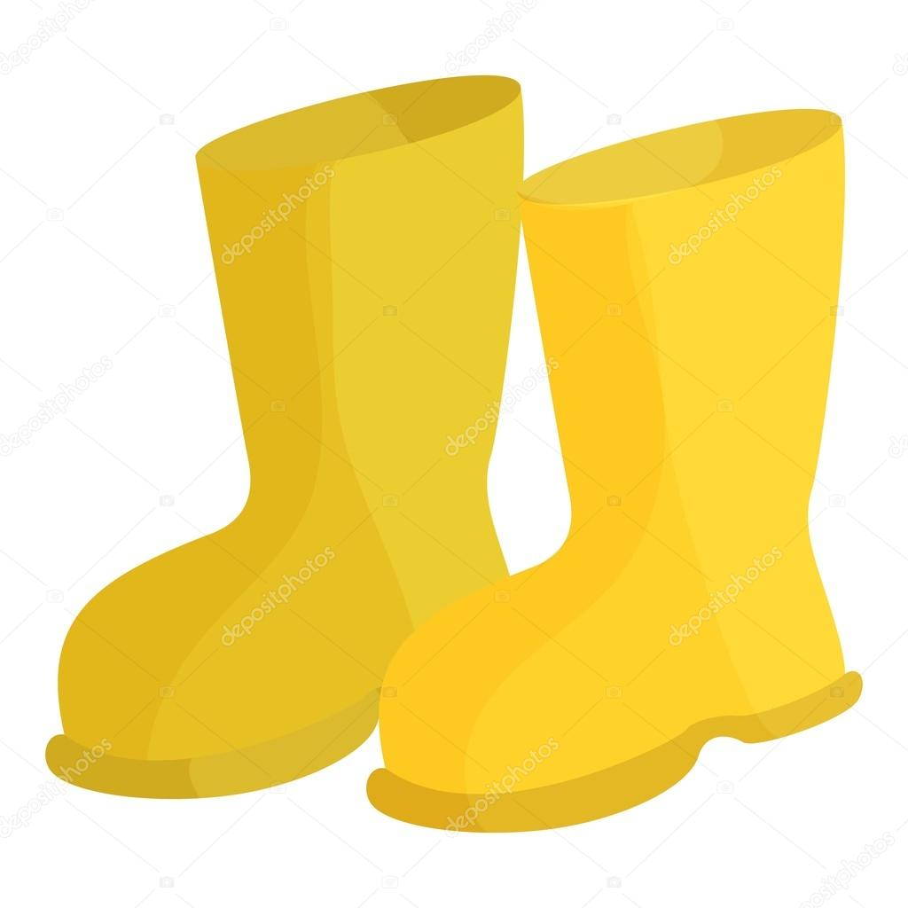 yellow rubber boots icon cartoon style stock vector ylivdesign