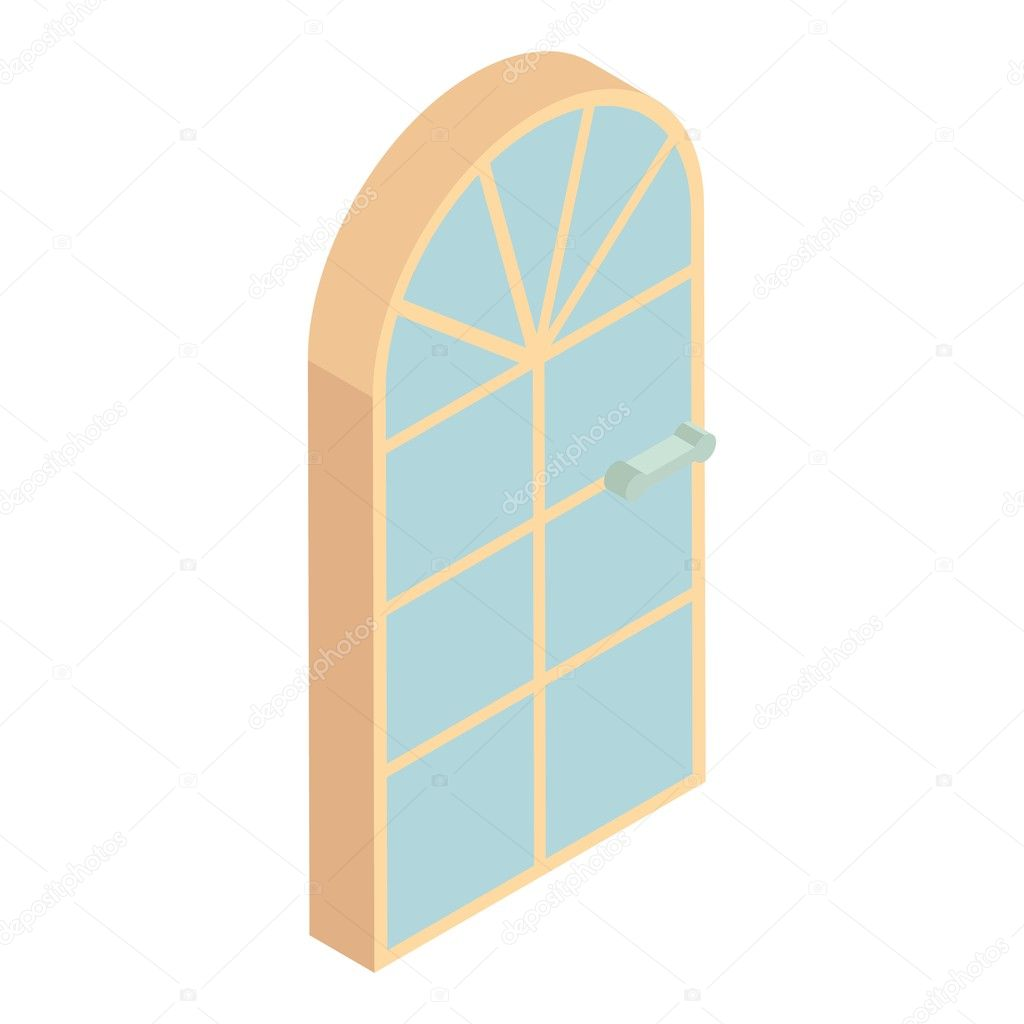 Arched Front Door Icon Cartoon Style Stock Vector Ylivdesign
