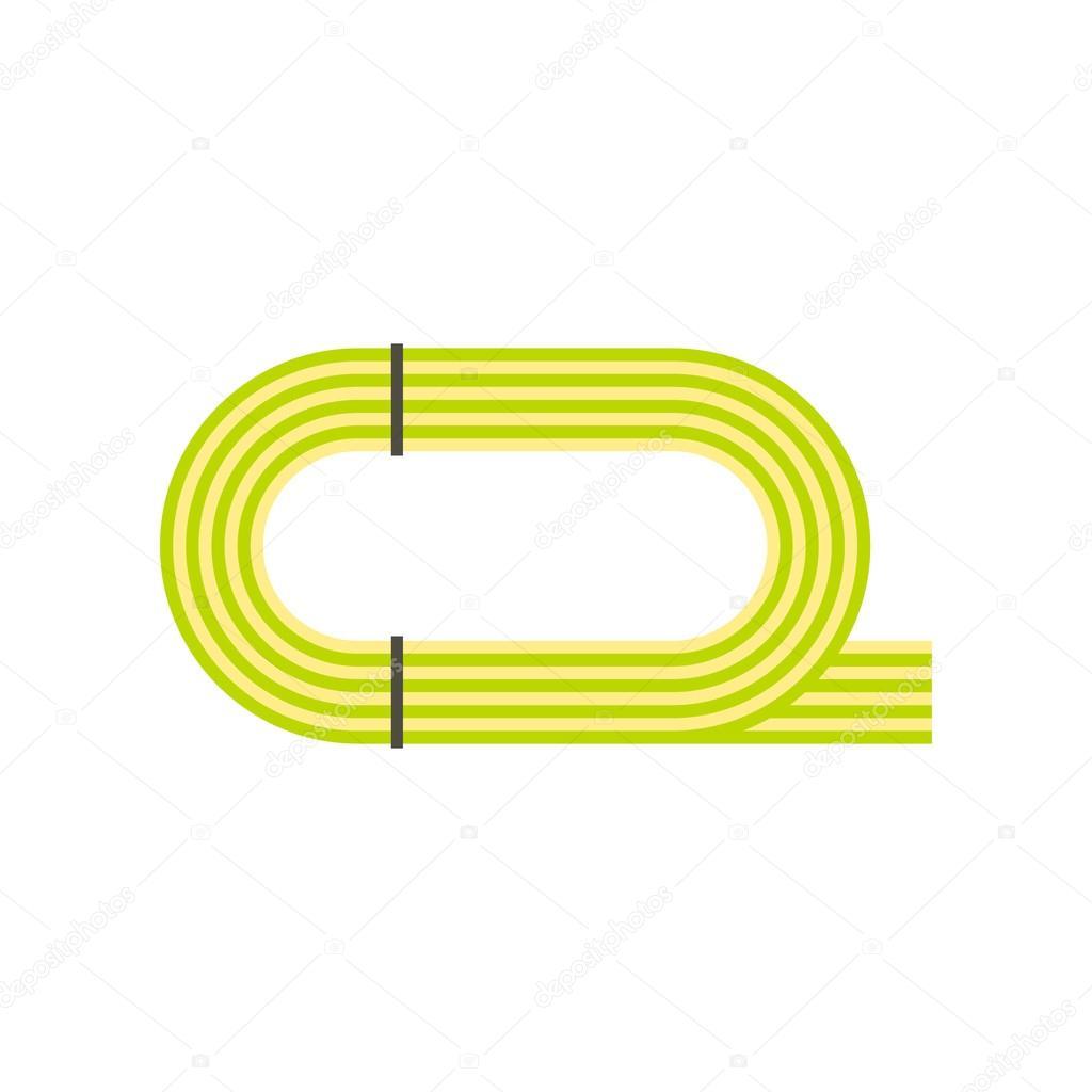 陸上競技場のアイコンフラット スタイル ストックベクター