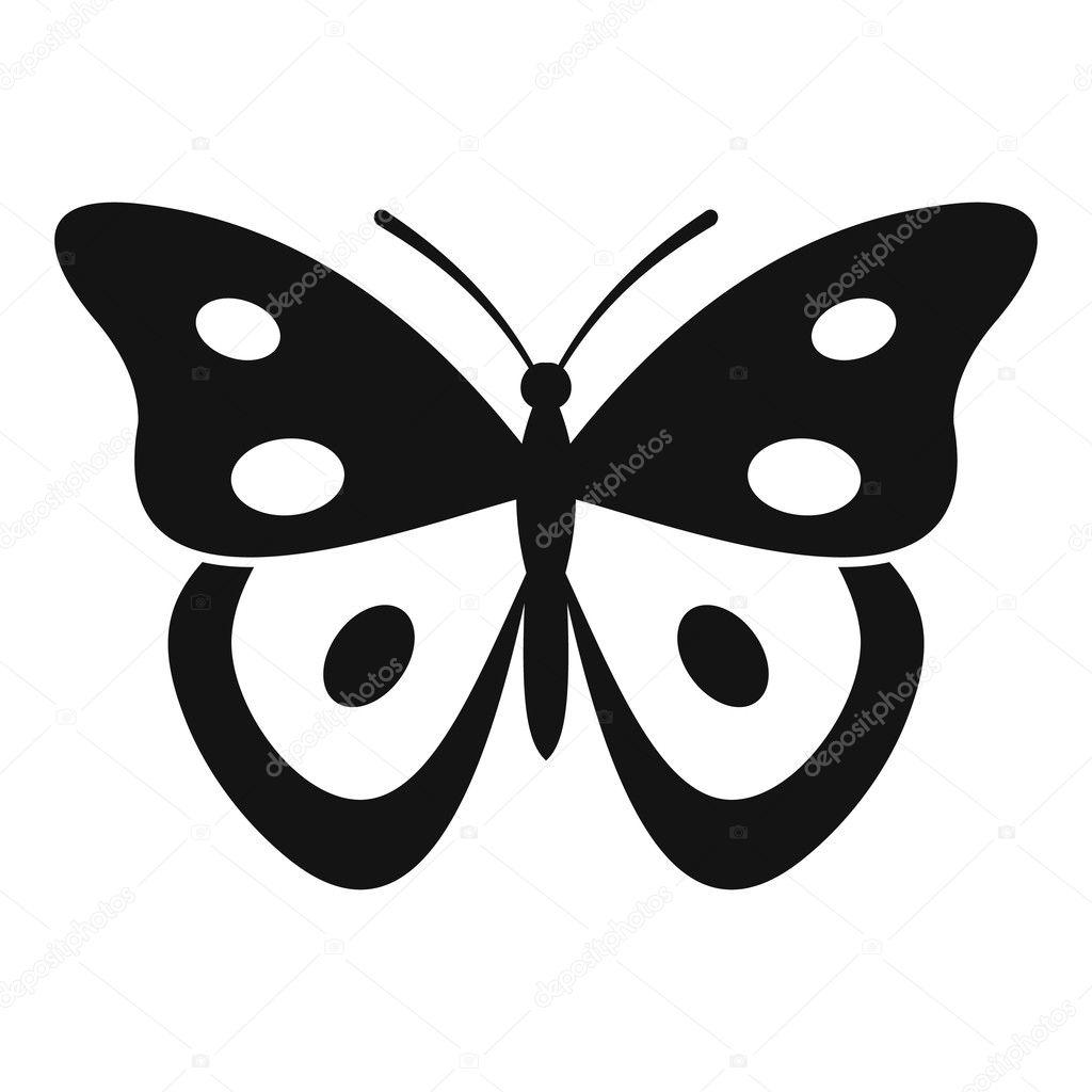 Icono del pierid mariposa, estilo simple — Vector de stock ...