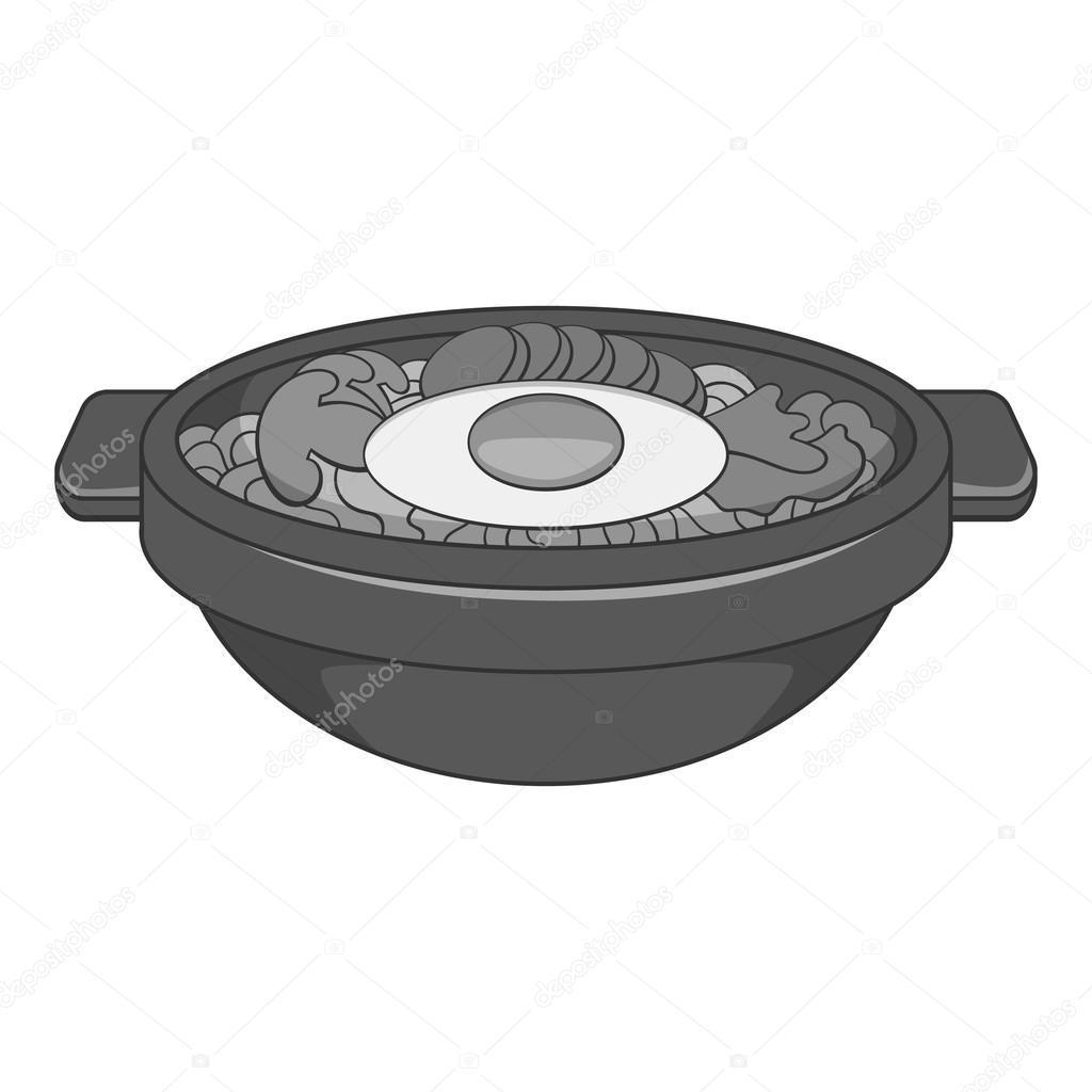 Bibimbap koreai étel ikon fe12a35bda