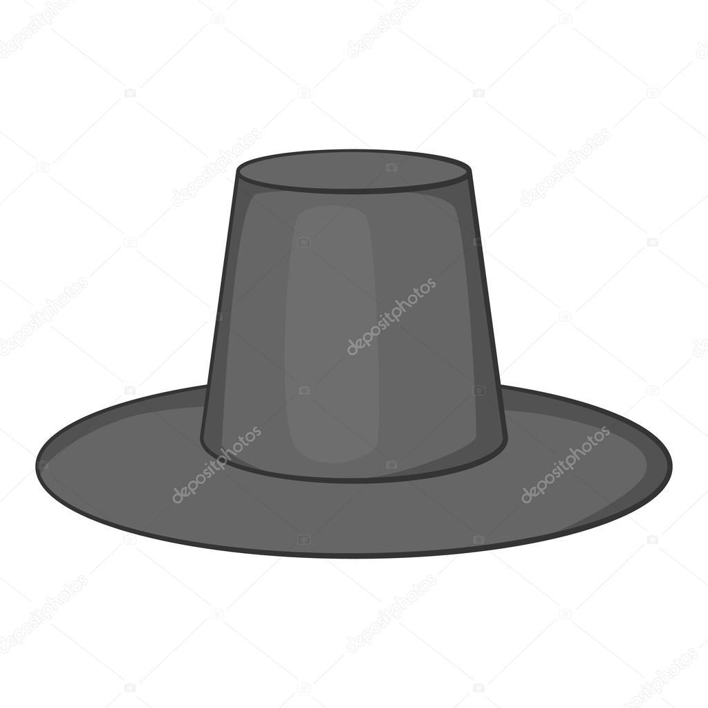 71ce6f293a9b1 Icono del sombrero tradicional coreano. Ilustración monocroma gris de icono  de vector de sombrero para diseño web - sombrero tradicional coreano —  Vector de ...