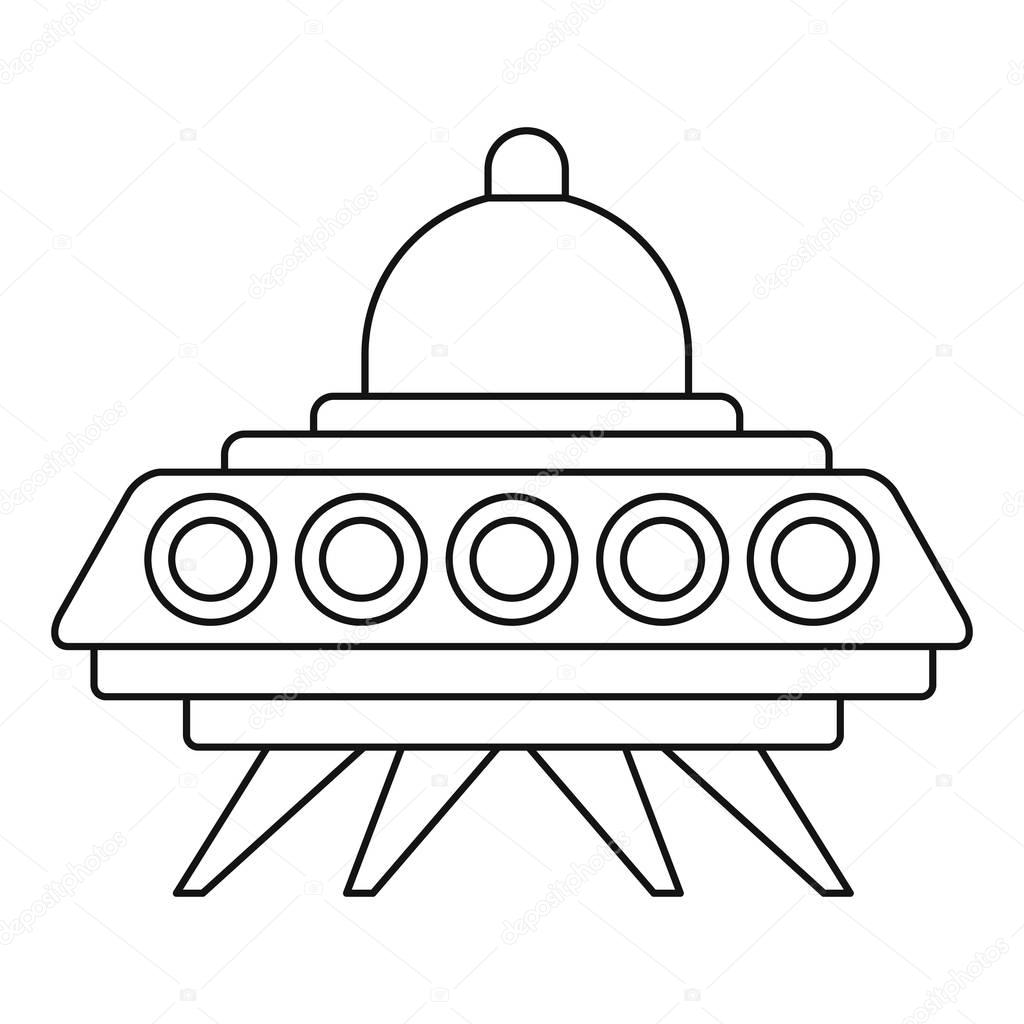 ufo flying saucer icon outline style u2014 stock vector ylivdesign