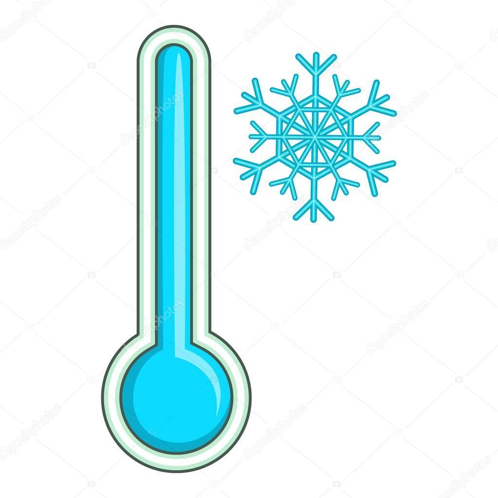 c29cb41a8 Ícone de baixa temperatura do termômetro, estilo cartoon — Vetores de Stock
