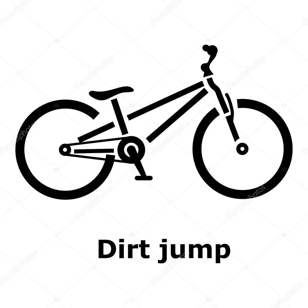 Dirt jump moto icono estilo simple — Vector de stock © ylivdesign ...