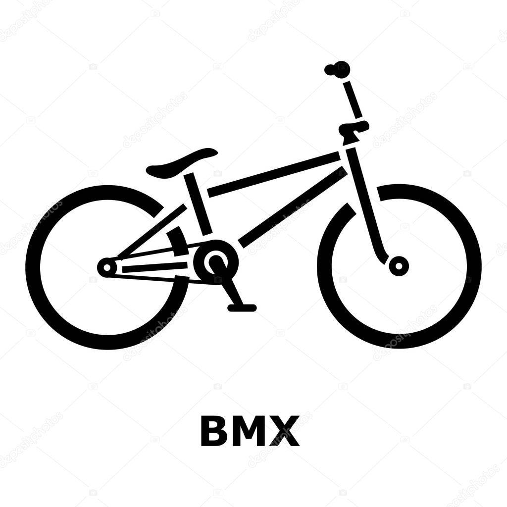 BMX-Fahrrad-Symbol, einfachen Stil — Stockvektor © ylivdesign #129391072