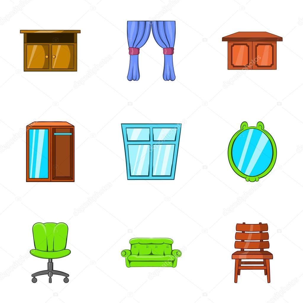 Im genes hogar muebles para el hogar set de iconos for Precios de muebles para el hogar
