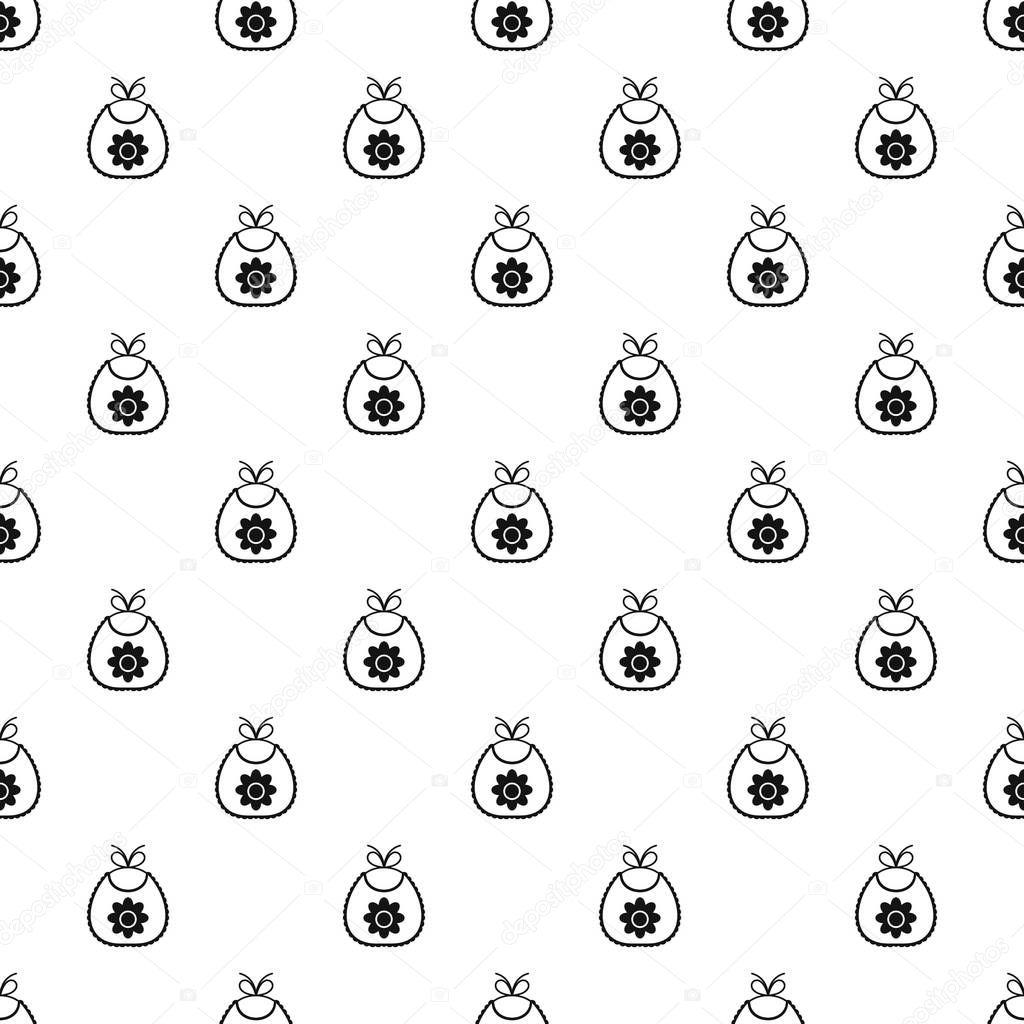 Patrón de babero de bebé, estilo simple — Vector de stock ...
