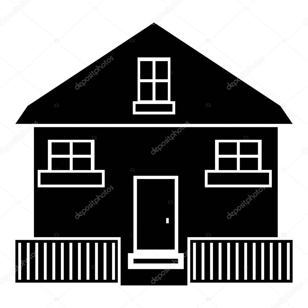 Cute House Icon, Simple Style U2014 Stock Vector