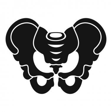 Pelvis icon, simple style