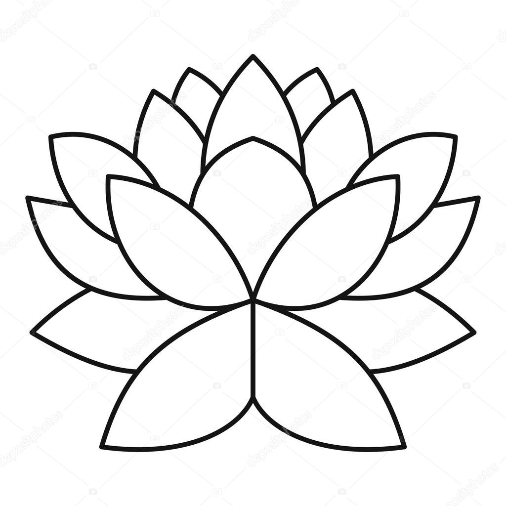 Lotus flower icon outline style stock vector ylivdesign 130409288 lotus flower icon outline illustration of lotus flower vector icon for web design vector by ylivdesign mightylinksfo