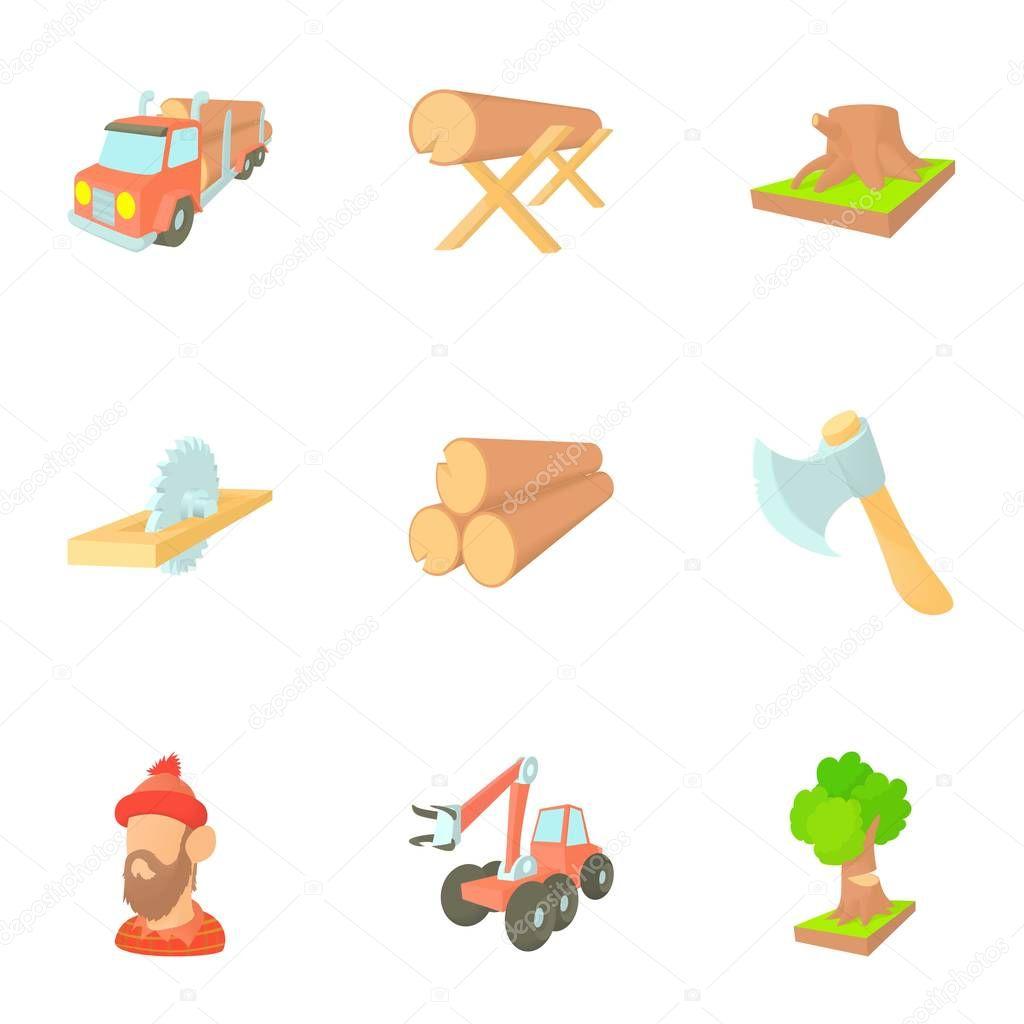 Imágenes: la reforestacion animadas Conjunto de iconos