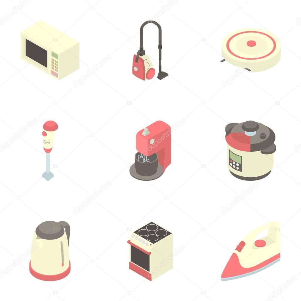 Kuche Elektrogerate Icons Set Stockvektor C Ylivdesign 130410404