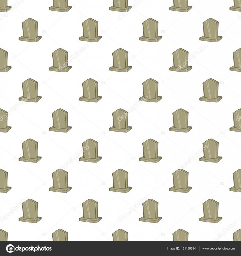 Patrones de monumento sepulcral, estilo de dibujos animados — Vector ...