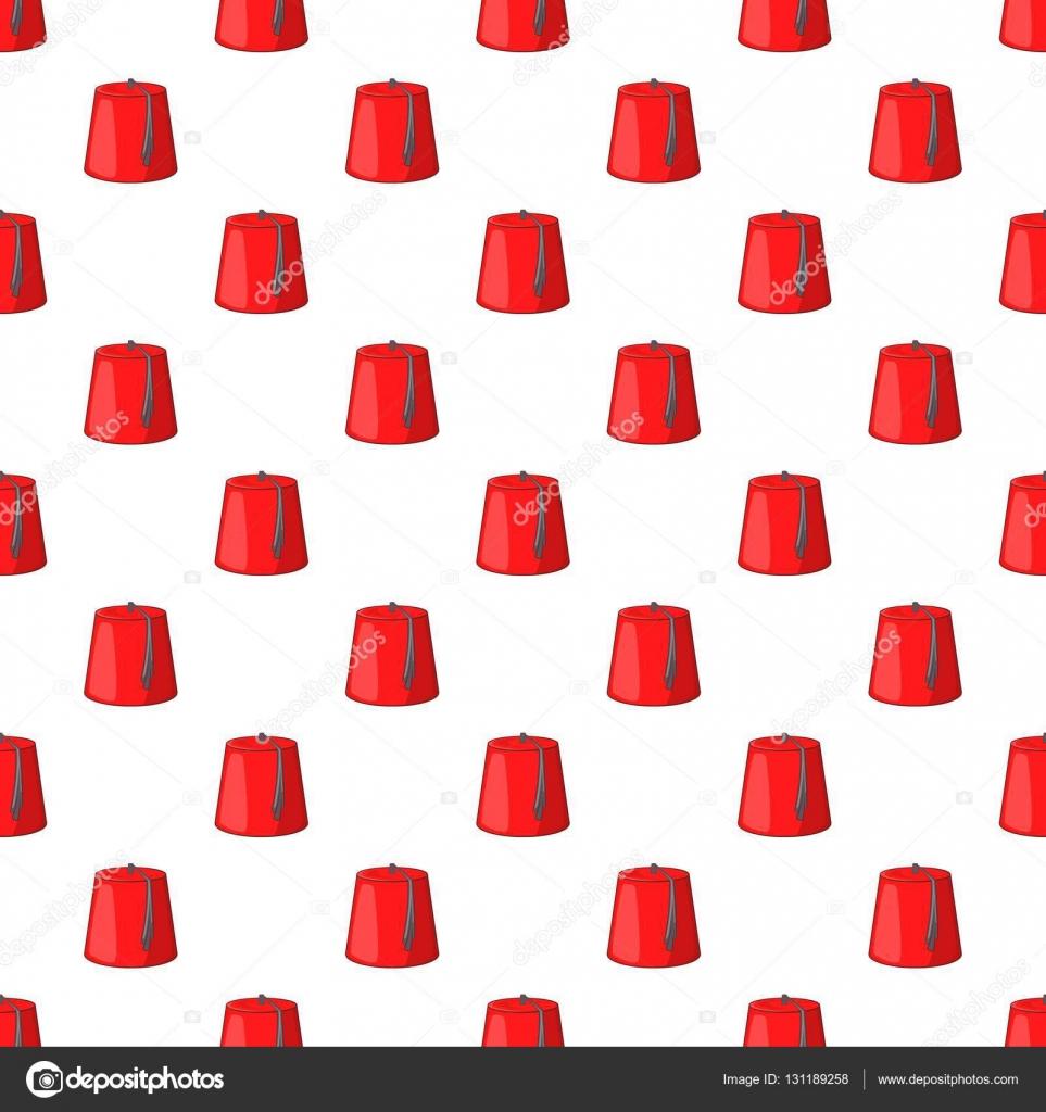Vectores sin royalties similares  Sombrero turco tradicional fez Fez sin  fisuras patrón o aislado sobre fondo blanco c2e382a7a16