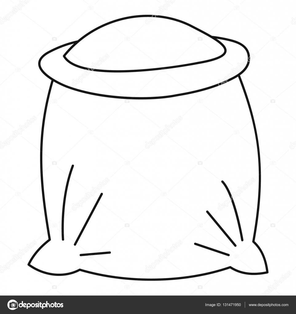 Imágenes Dibujo De Saco De Harina Para Colorear Bolsa Llena De