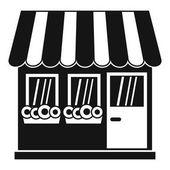 Ikonu obchod, jednoduchý styl
