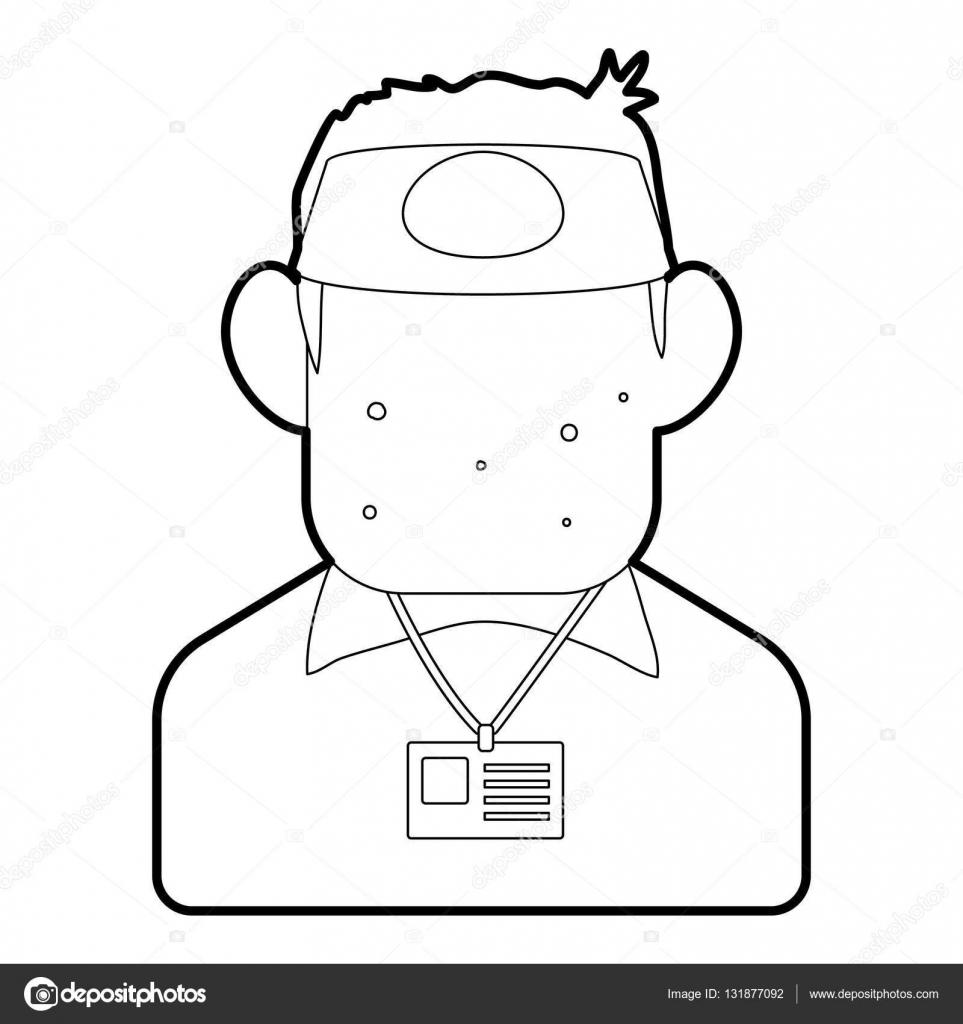 Salesman icon, outline style — Stock Vector © ylivdesign #131877092