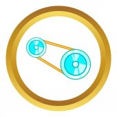 Photo Timing belt vector icon