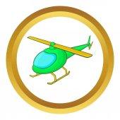 Zelená vrtulník vektorové ikony