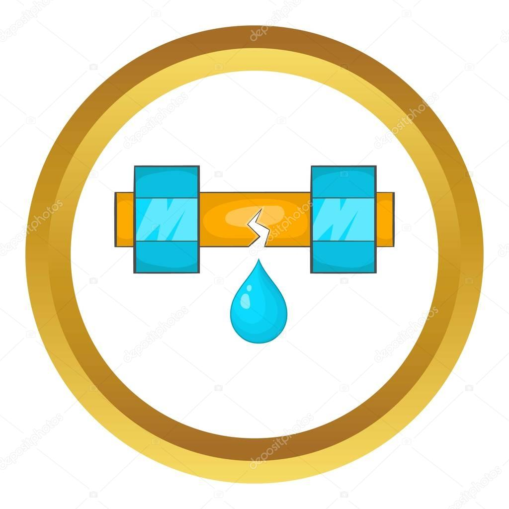 Dripping water pipe vector icon