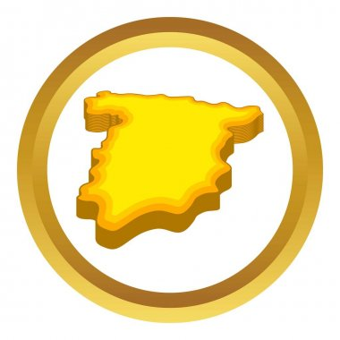 Map of Spain vector icon