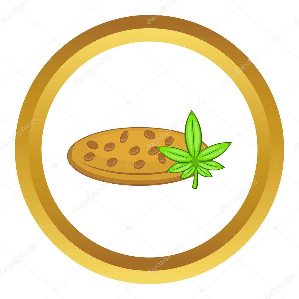 Marijuana seeds vector icon