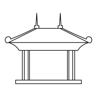 Pagoda pavilion icon, outline style