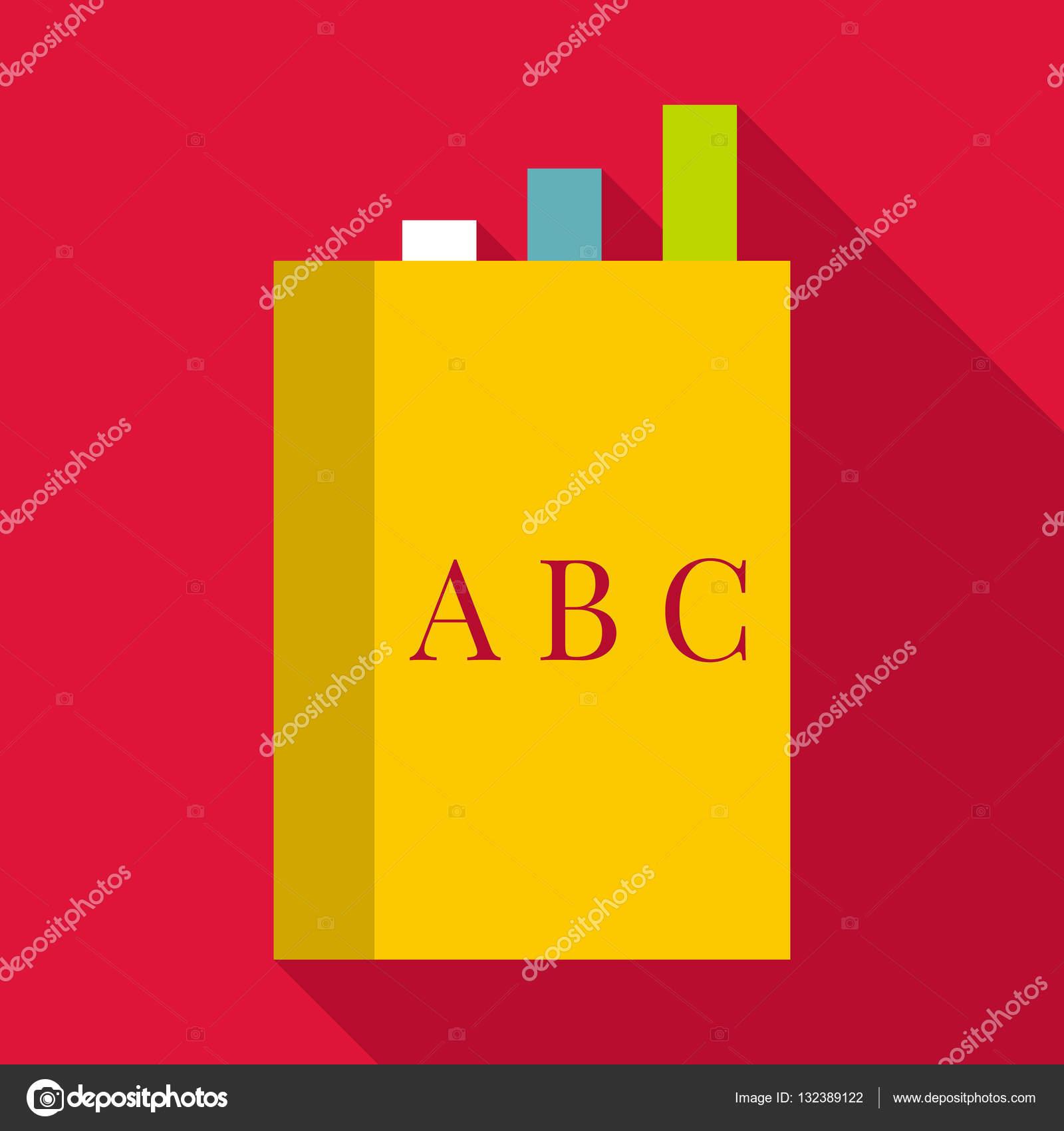 englisches buch-symbol, flachen stil — stockvektor © ylivdesign