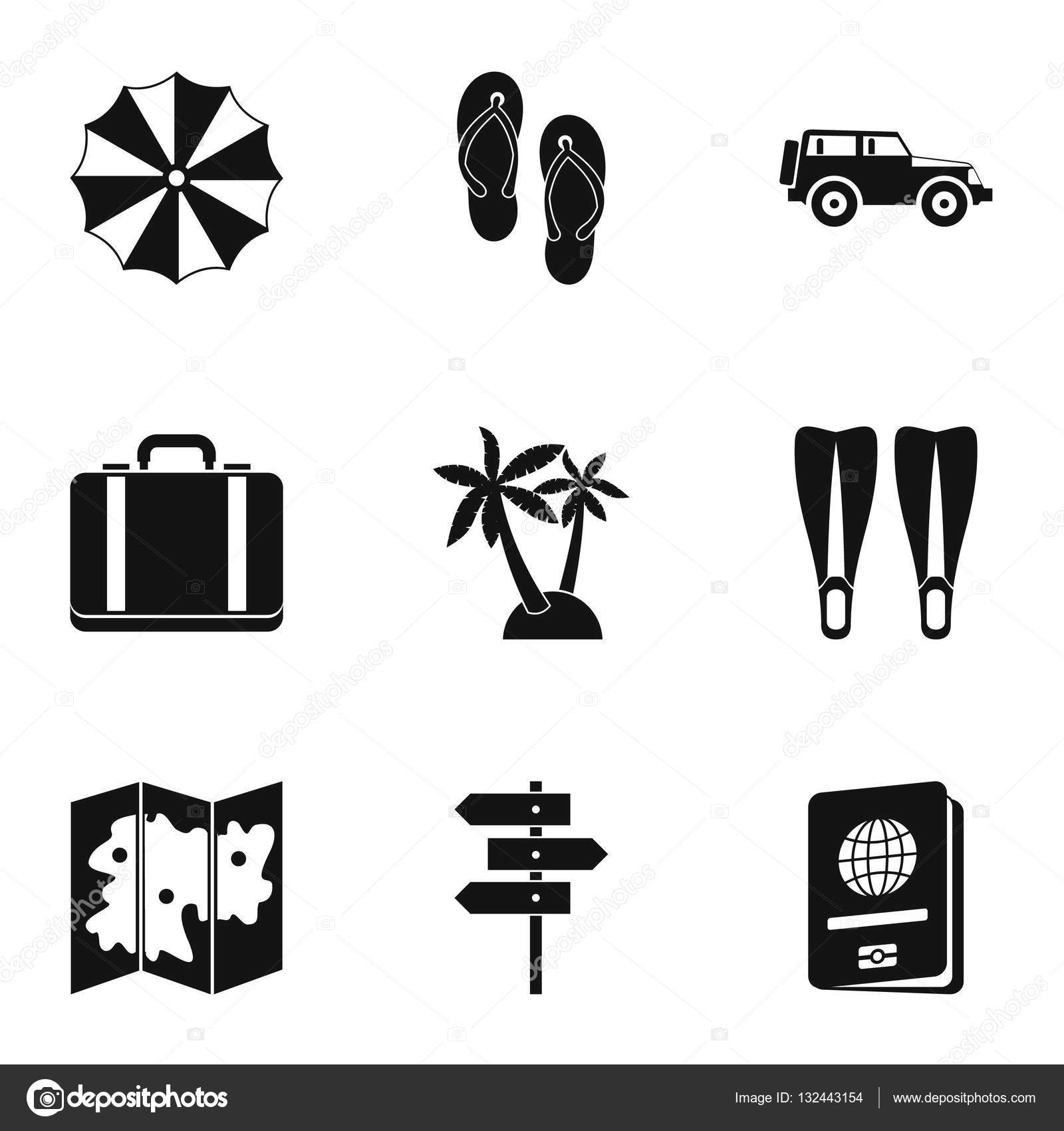 Travel to sea icons set simple style stock vector ylivdesign travel to sea icons set simple style stock vector biocorpaavc Choice Image