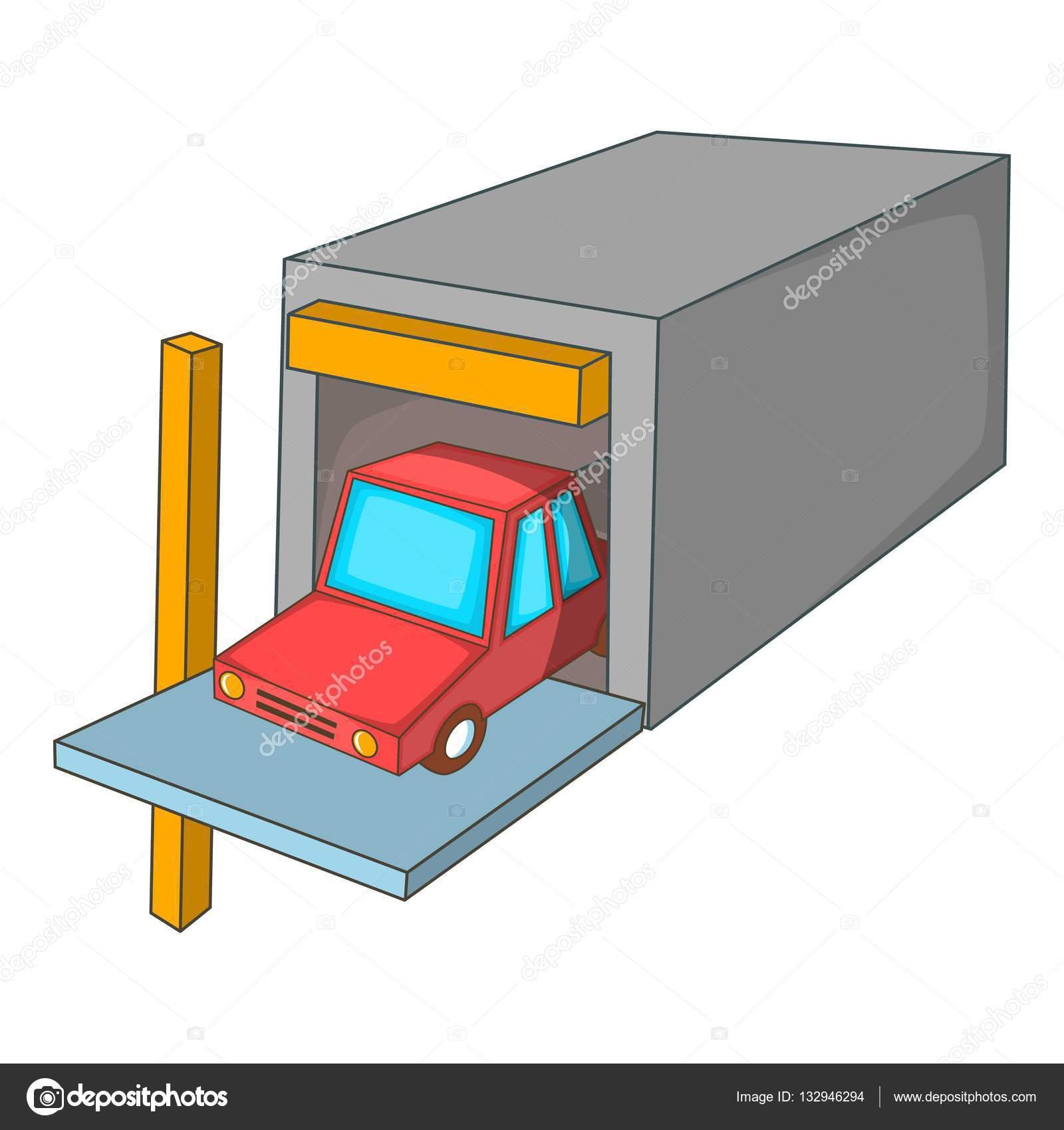 Animado garage dibujo icono de coche garaje estilo de - Garaje de coches ...