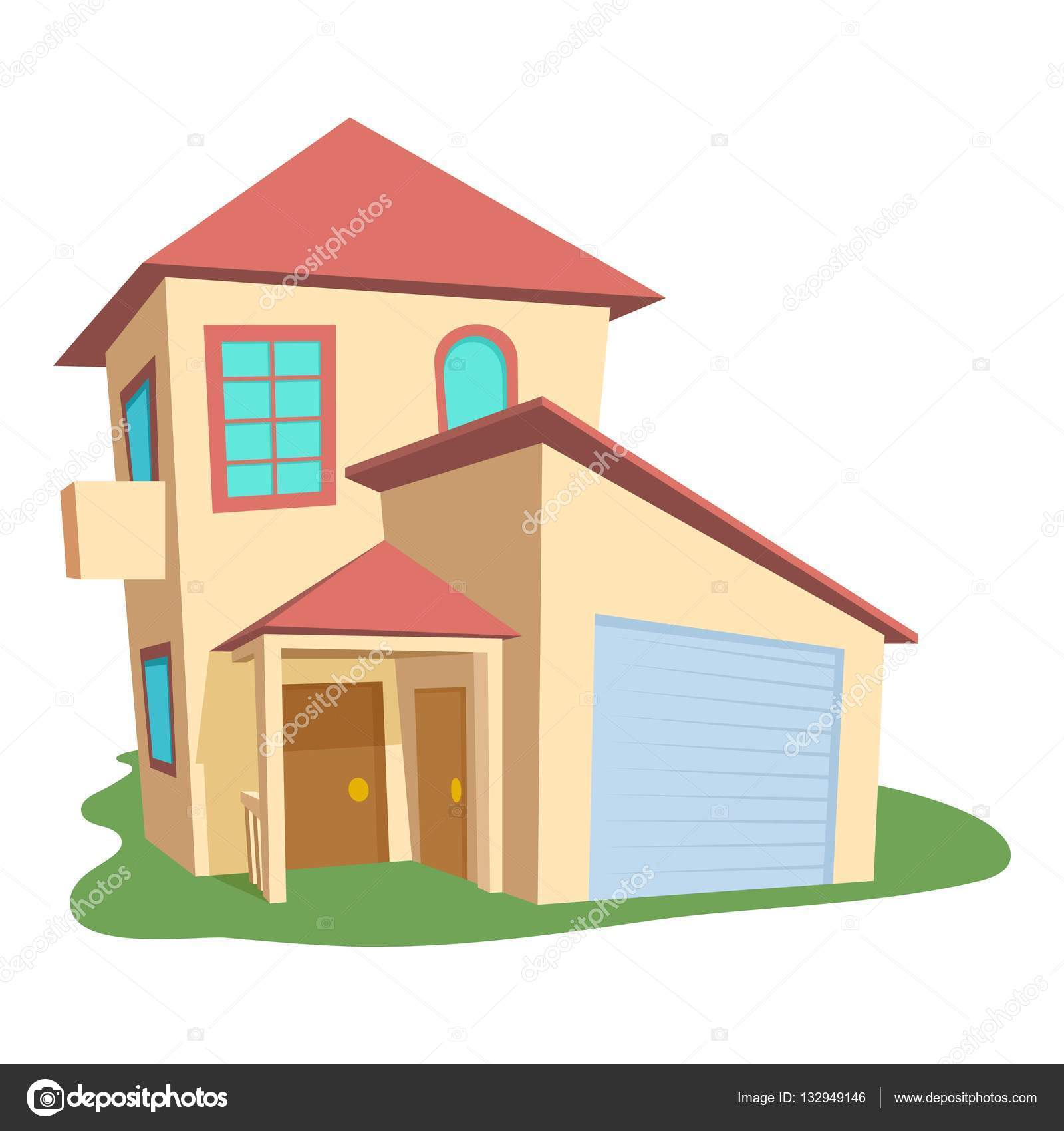 Modernes Haus-Symbol, Cartoon-Stil — Stockvektor © ylivdesign #132949146